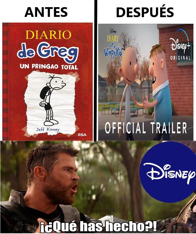 El Diario de Greg - meme