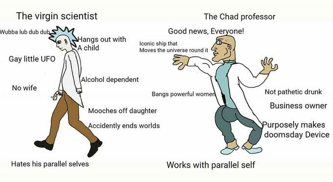 Virgin vs CHAD  - meme