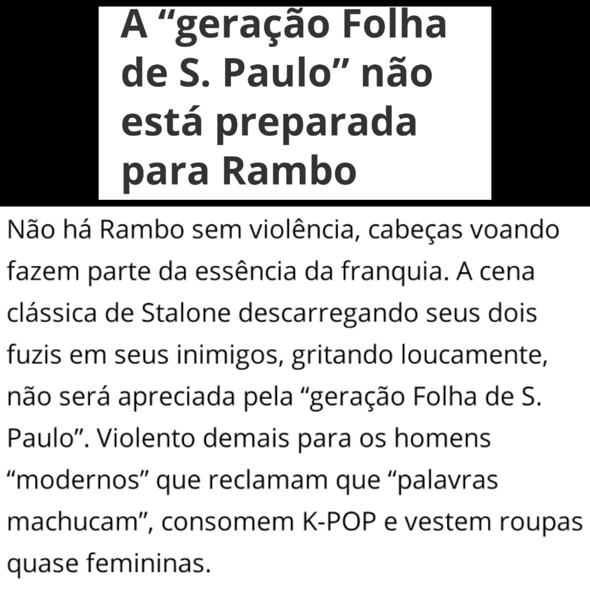 A geração Folha de São Paulo não sabe de nada!!! - meme