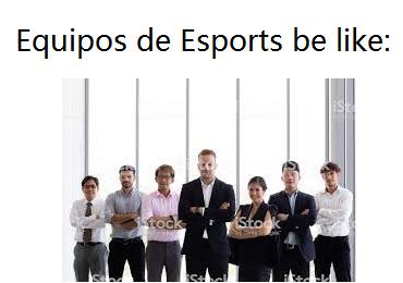 Equipos de Esports de mierda hagan una pose como las del equipo ginyu - meme