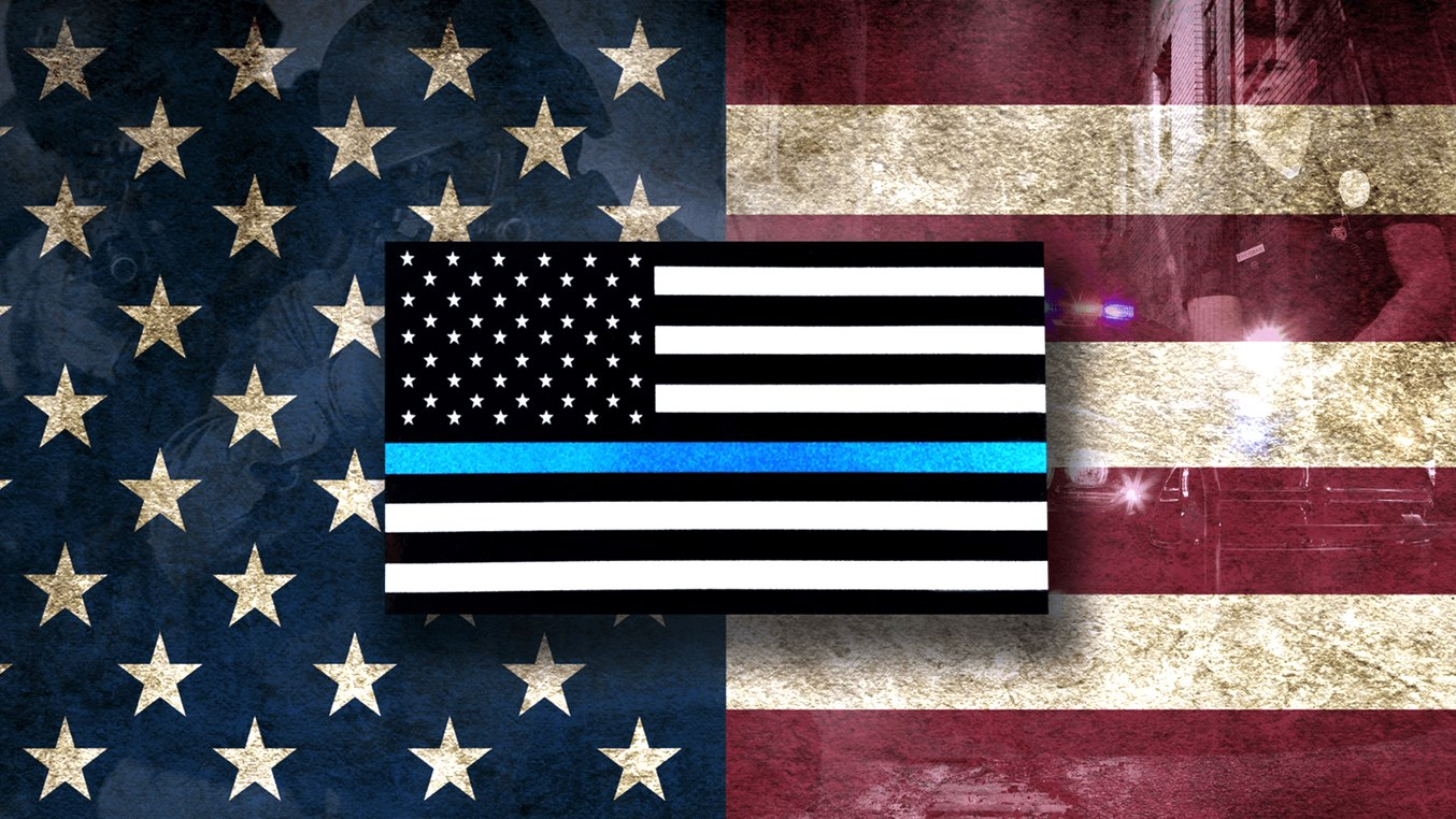 Blue lives matter, all lives matter - meme