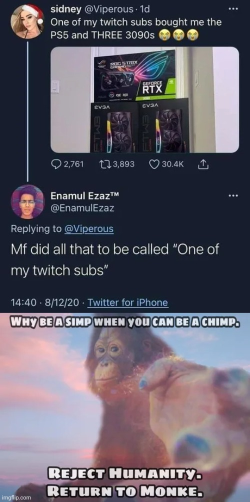 Chimp lord - meme