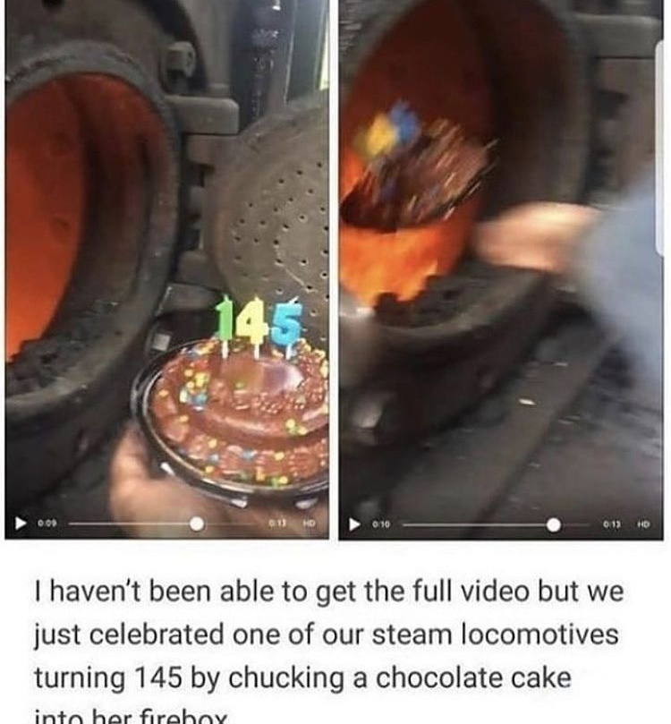 happy birthday train - meme