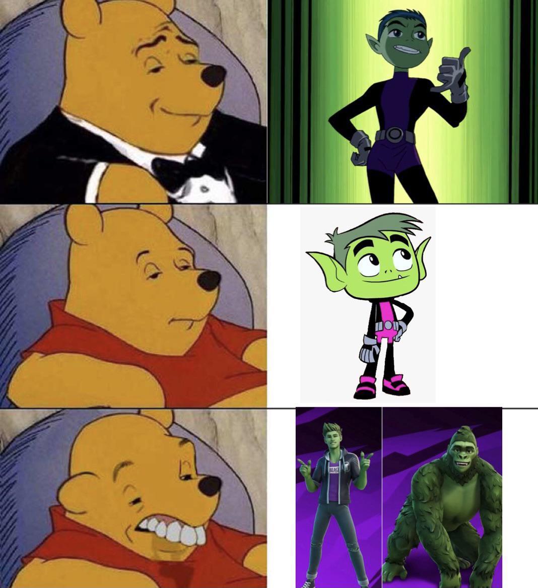 The evolution of beast boy :/ - meme