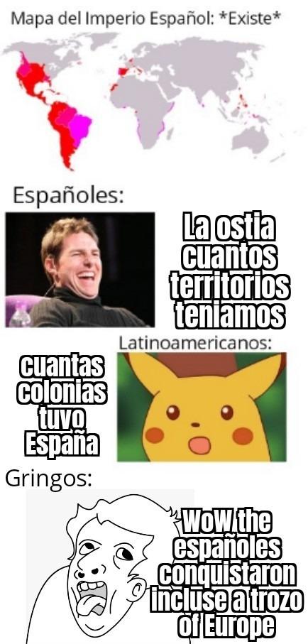Contexto Innecesario: Hay gringos que piensan que España está en LATAM - meme