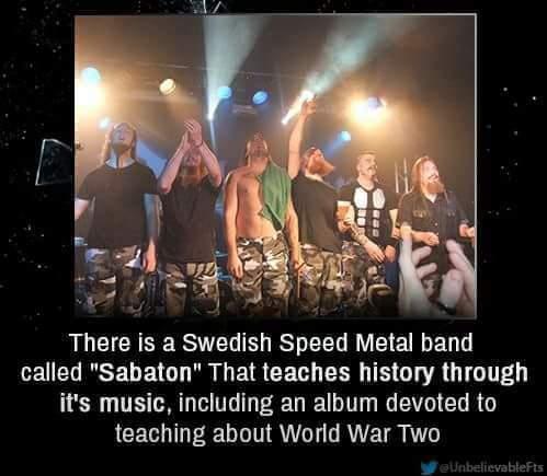 Sabaton is the best band - meme