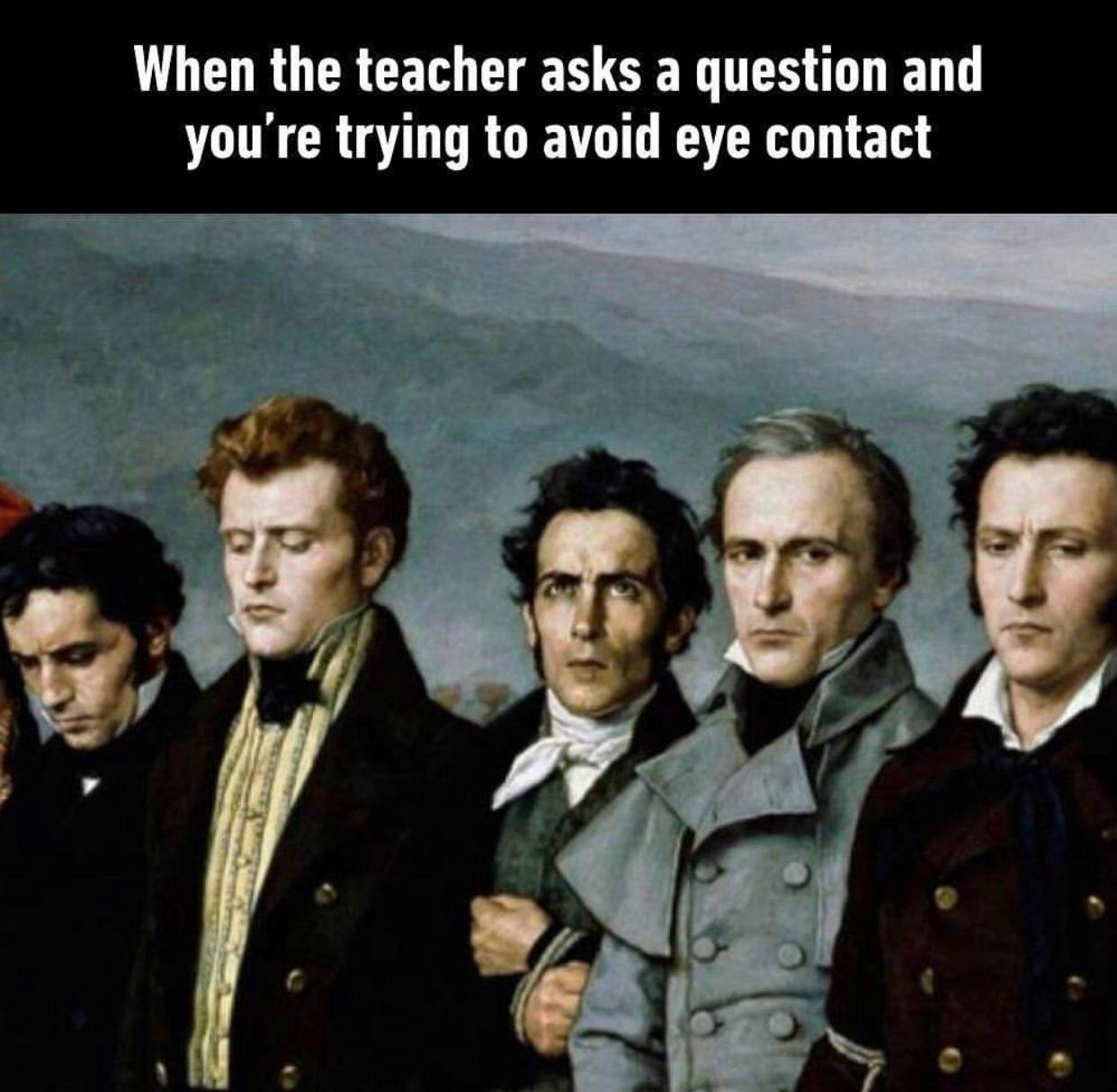 no eye contact no question - meme
