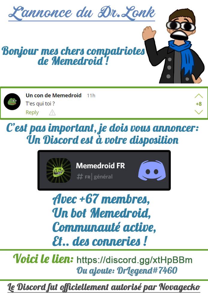 Discord Communauté Memedroid FR
