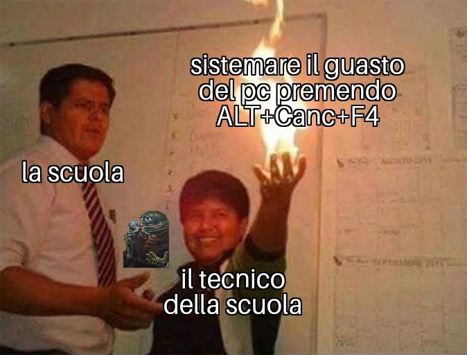 Scuola (Ironia) - meme