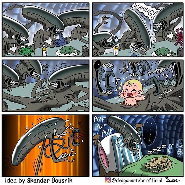 Alien By dragonarte - meme