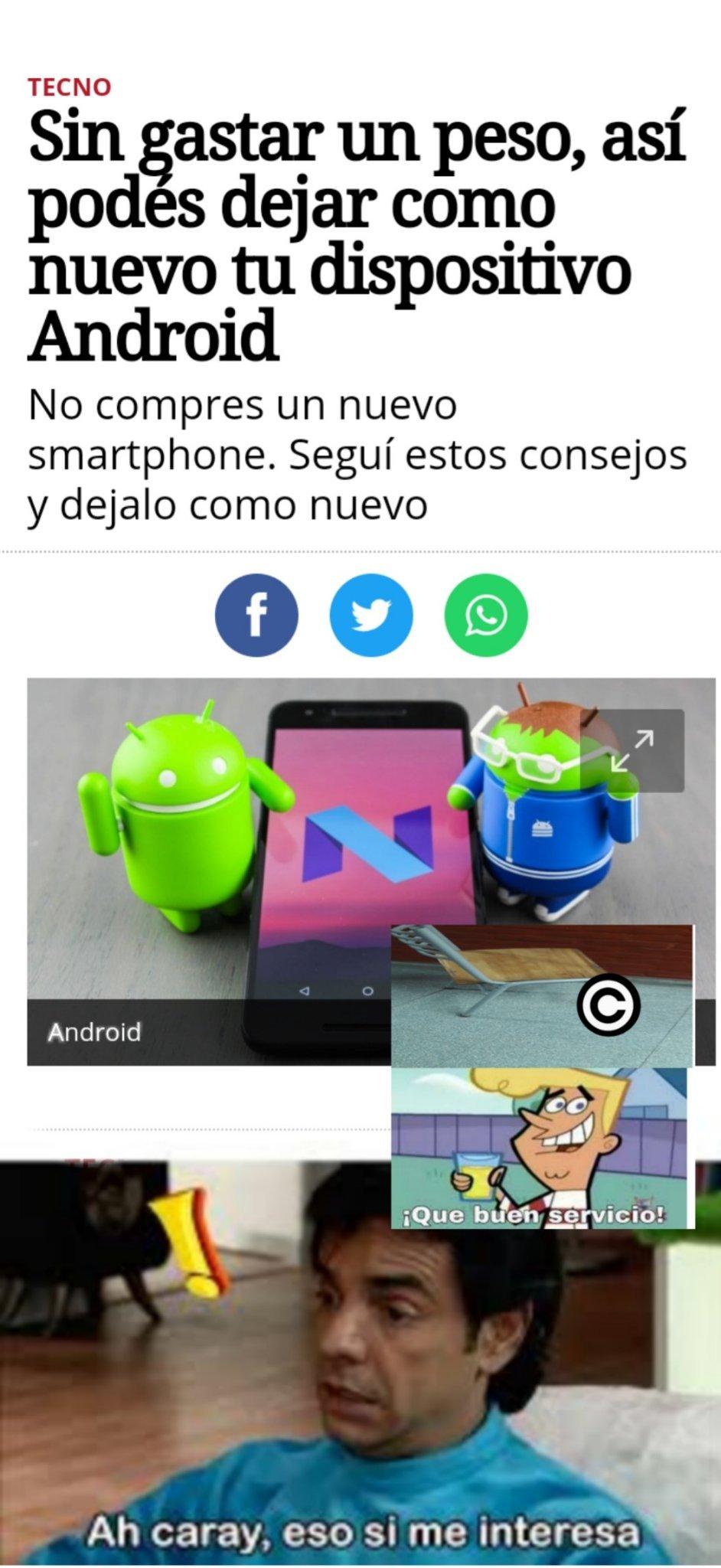 Para los que tengan android. Tengan un buen dia - meme