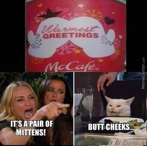 Pair of mittens - meme