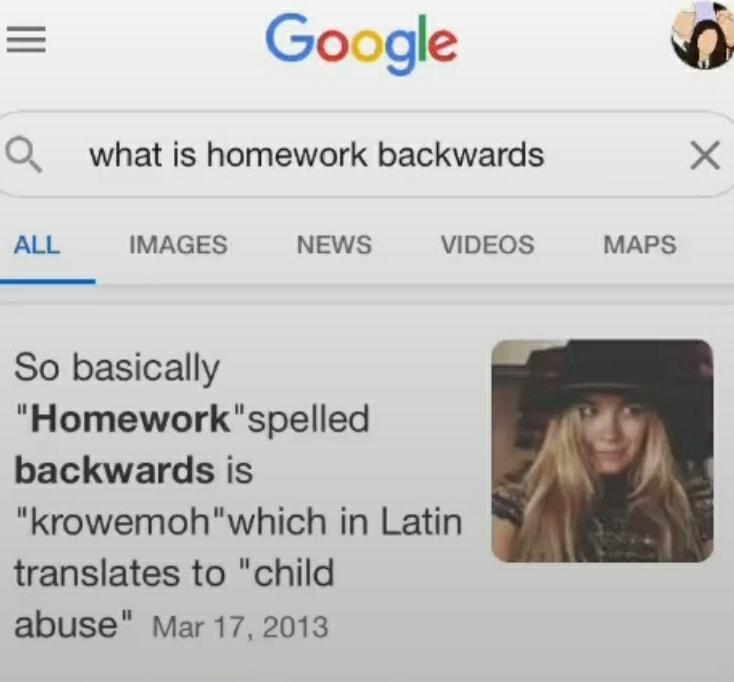 homework - meme