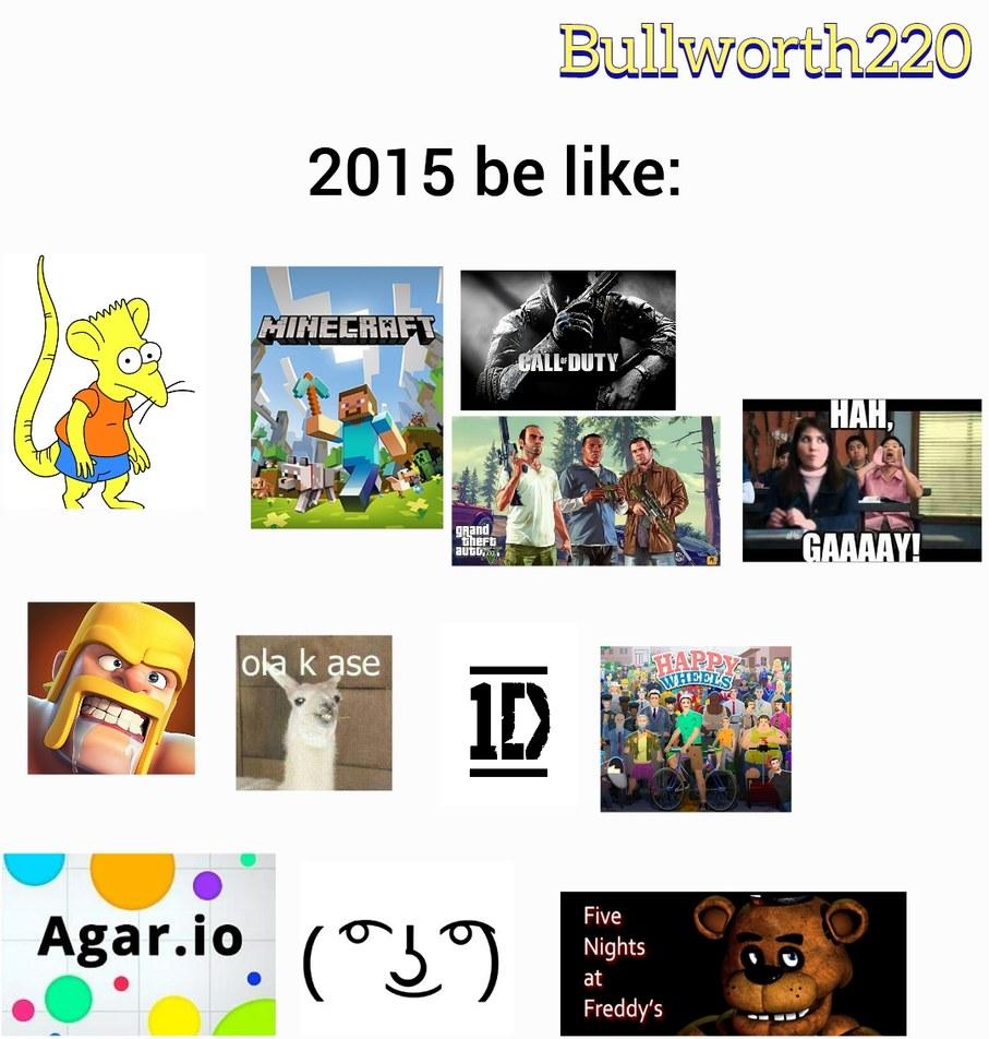 2015 y sus modas - meme