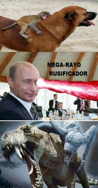 Raio russificador. - meme