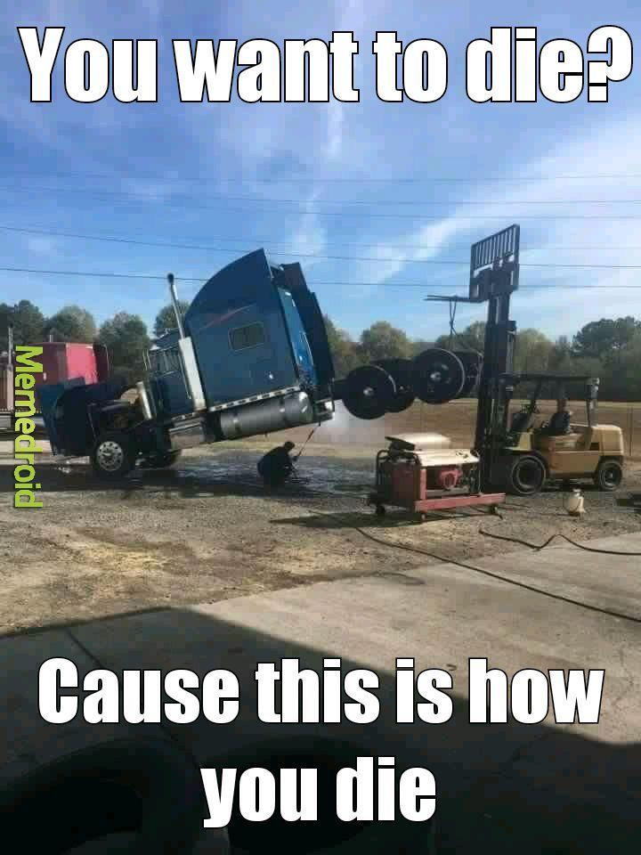 Dumb way to clean it. - meme