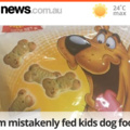 Mum mistakenly fed kids dog biscuits