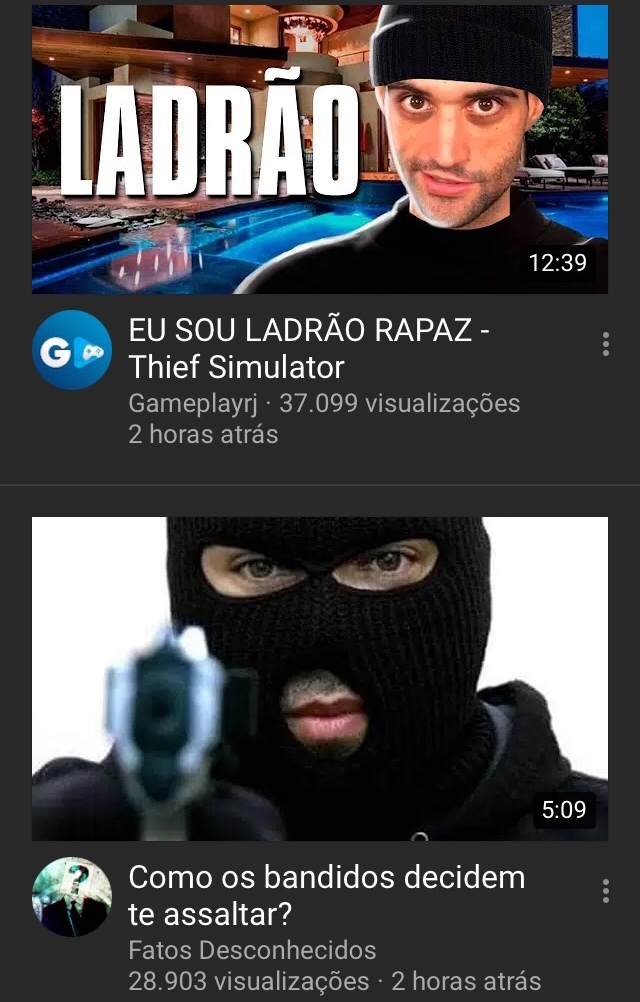 Pérolas do YouTube - meme