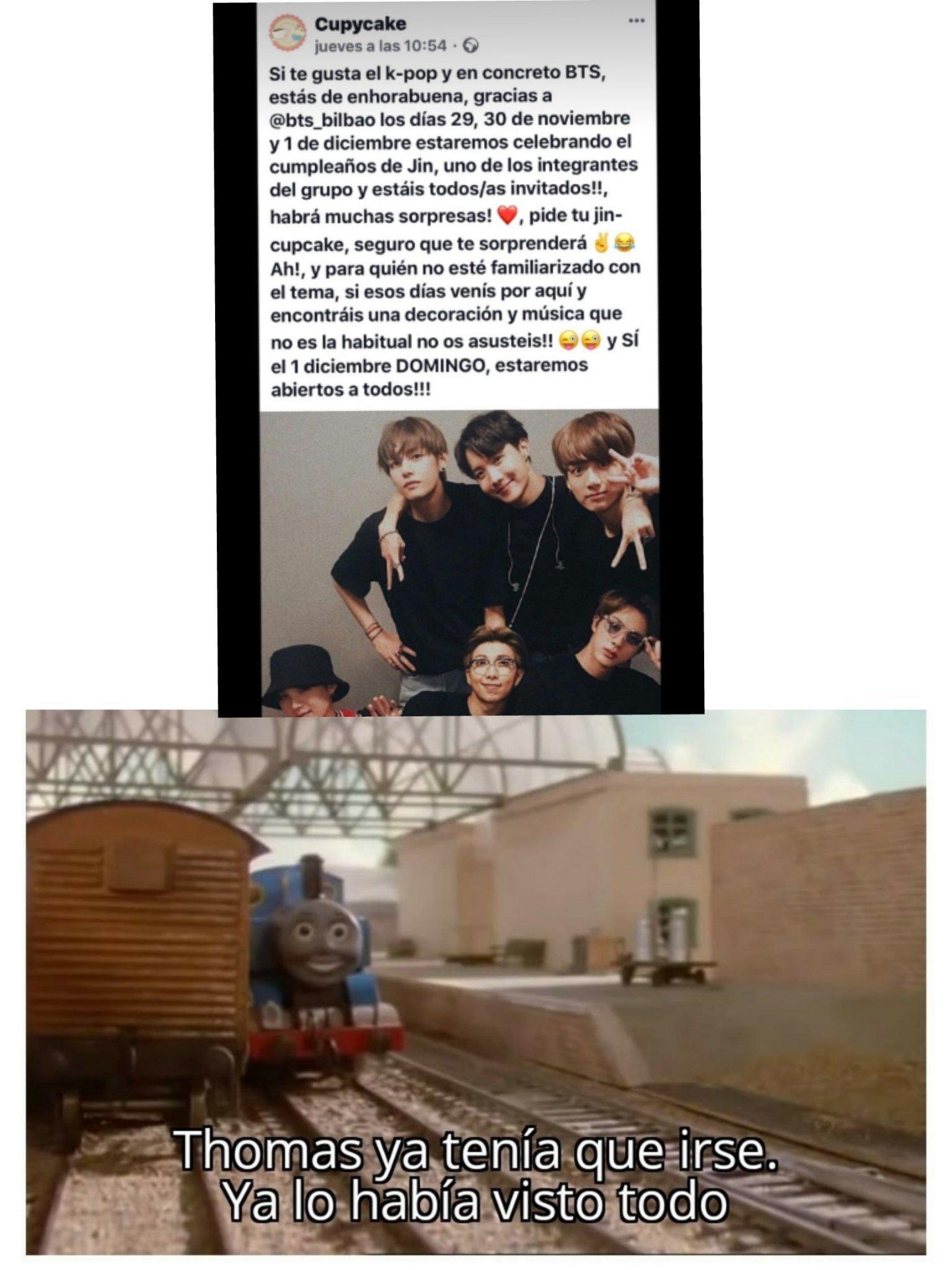 Thomas ahora sí lo vio todo - meme