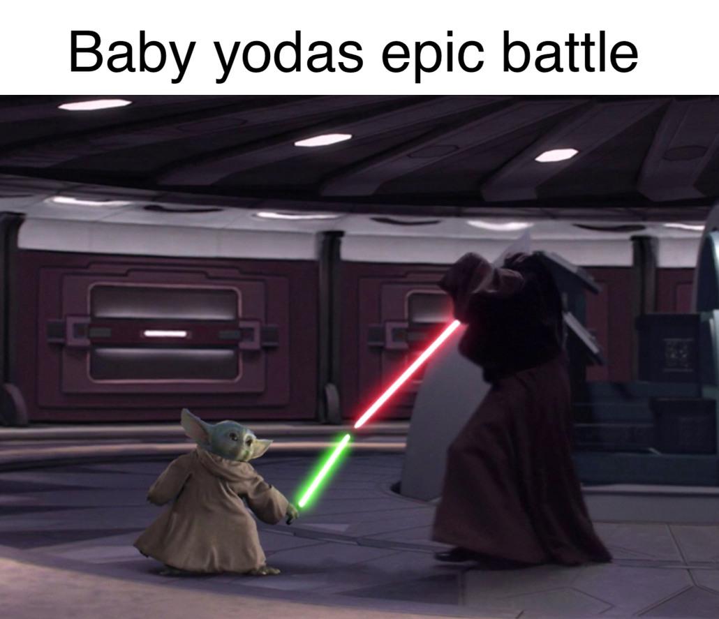 Epic battle - meme