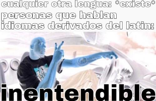 Ejemplos estan: español, ingles, portugues, frances, italiano, etc - meme