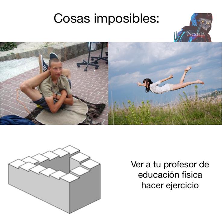 Cosas imposibles - meme