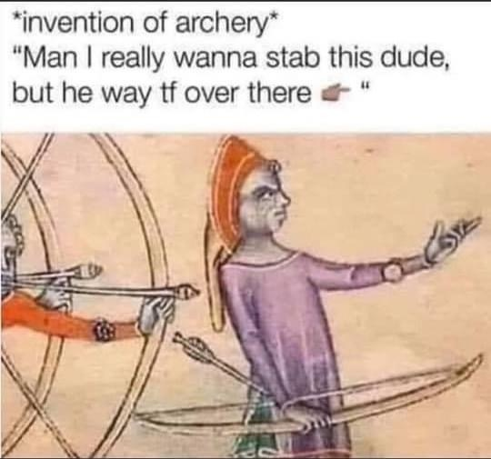 Murder is the mother of invention - meme