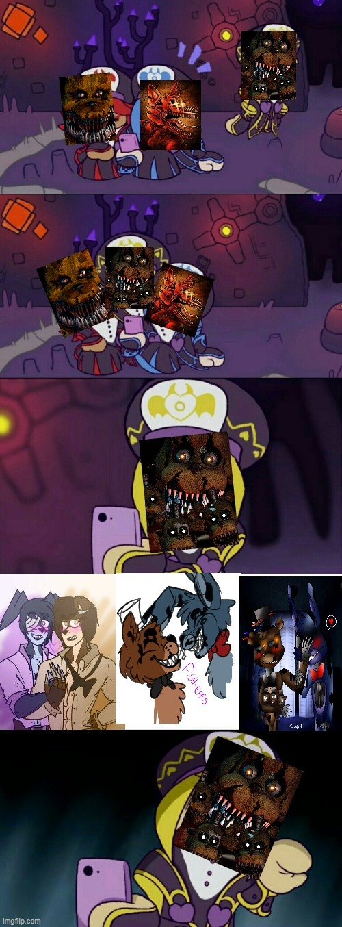 Por alguna razón shippean a nightmare Freddy con nightmare Bonnie :ohgodwhy: - meme