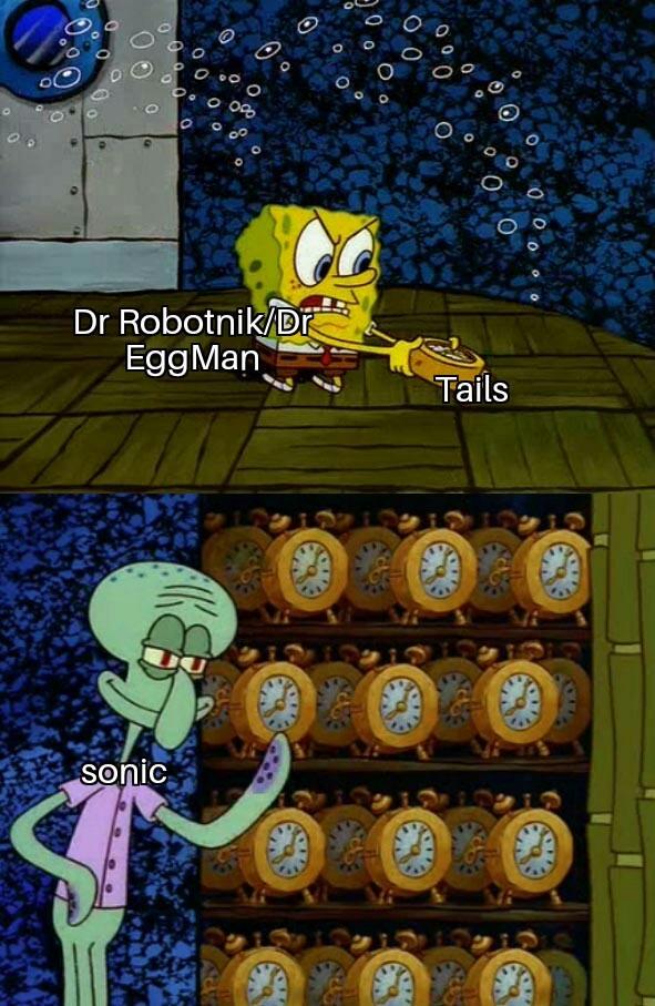 Tails es inmortal - meme