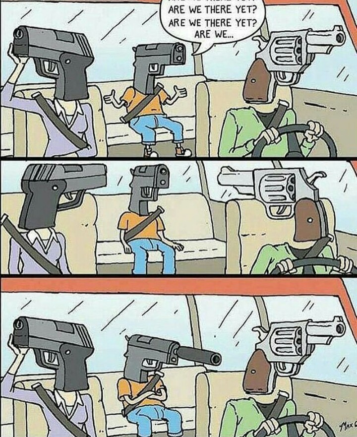 Baby gun bit anoying - meme