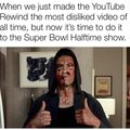 Time to dislike Super Bowl Halftime Show's video on Youtube!