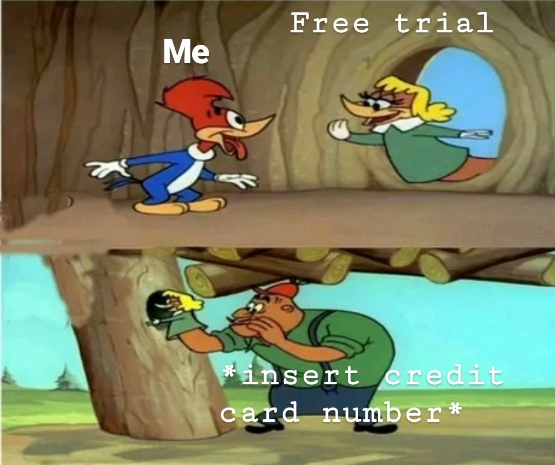 Empty bank account doesn't count - meme
