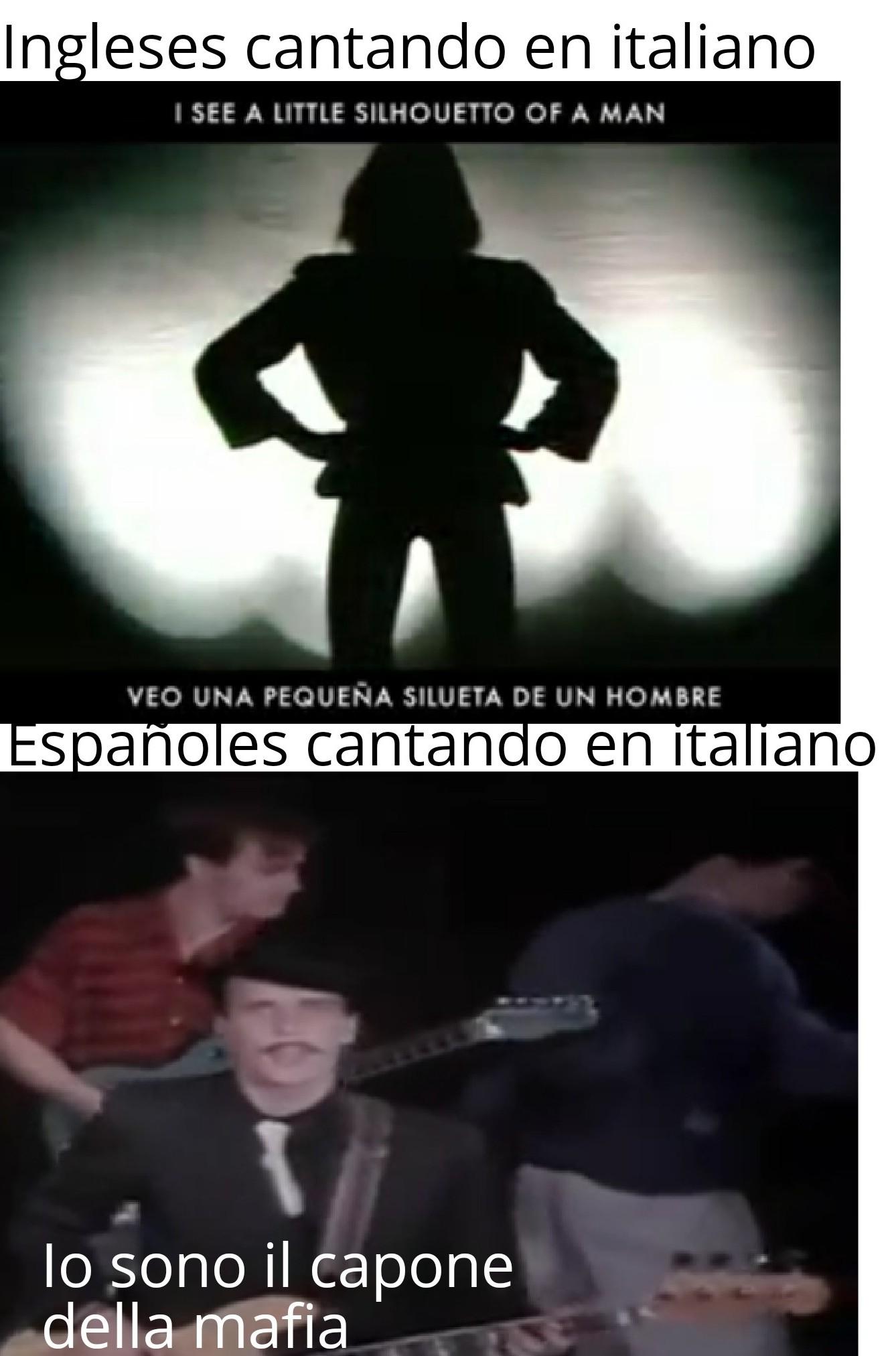 Perdonen la calidad de la imagen de abajo, no hay mejor calidad del vídeo de los Hombres G, por cierto la canción es Venezia - meme