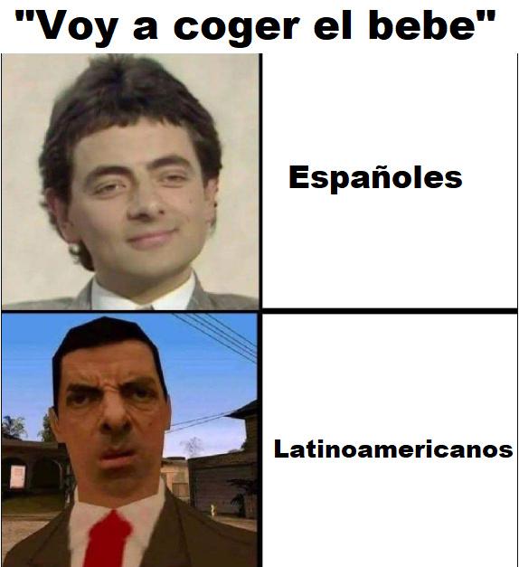 Probablemente sea idea usada, pero me da risa la cara de Mr Bean - meme