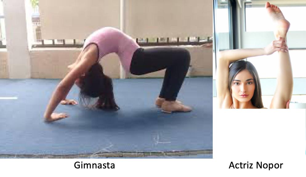 la actriz es mas flexible - meme