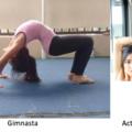 la actriz es mas flexible