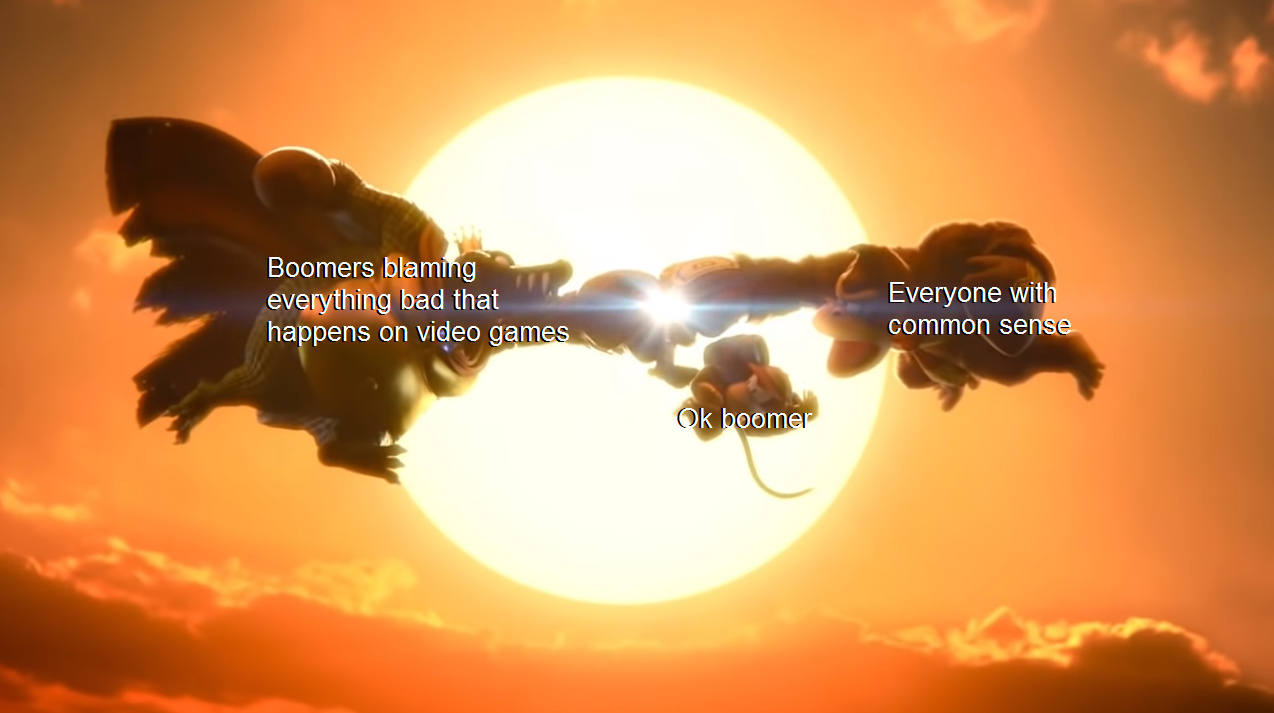 Why do boomers hate video games so much? - meme