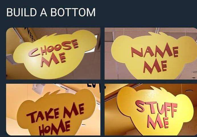 Ah yes. Build a bottom. My favorite store - meme