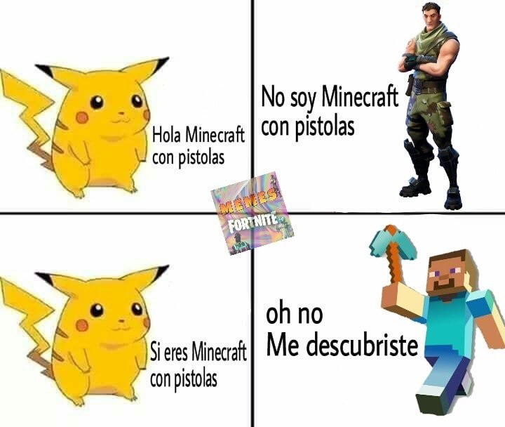 Minecraft con pistolas - meme