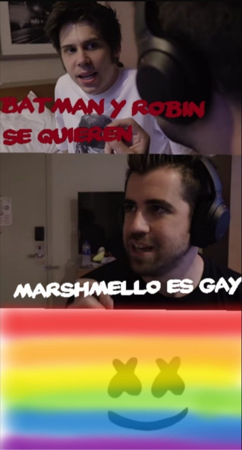 Marshmello es gay - meme