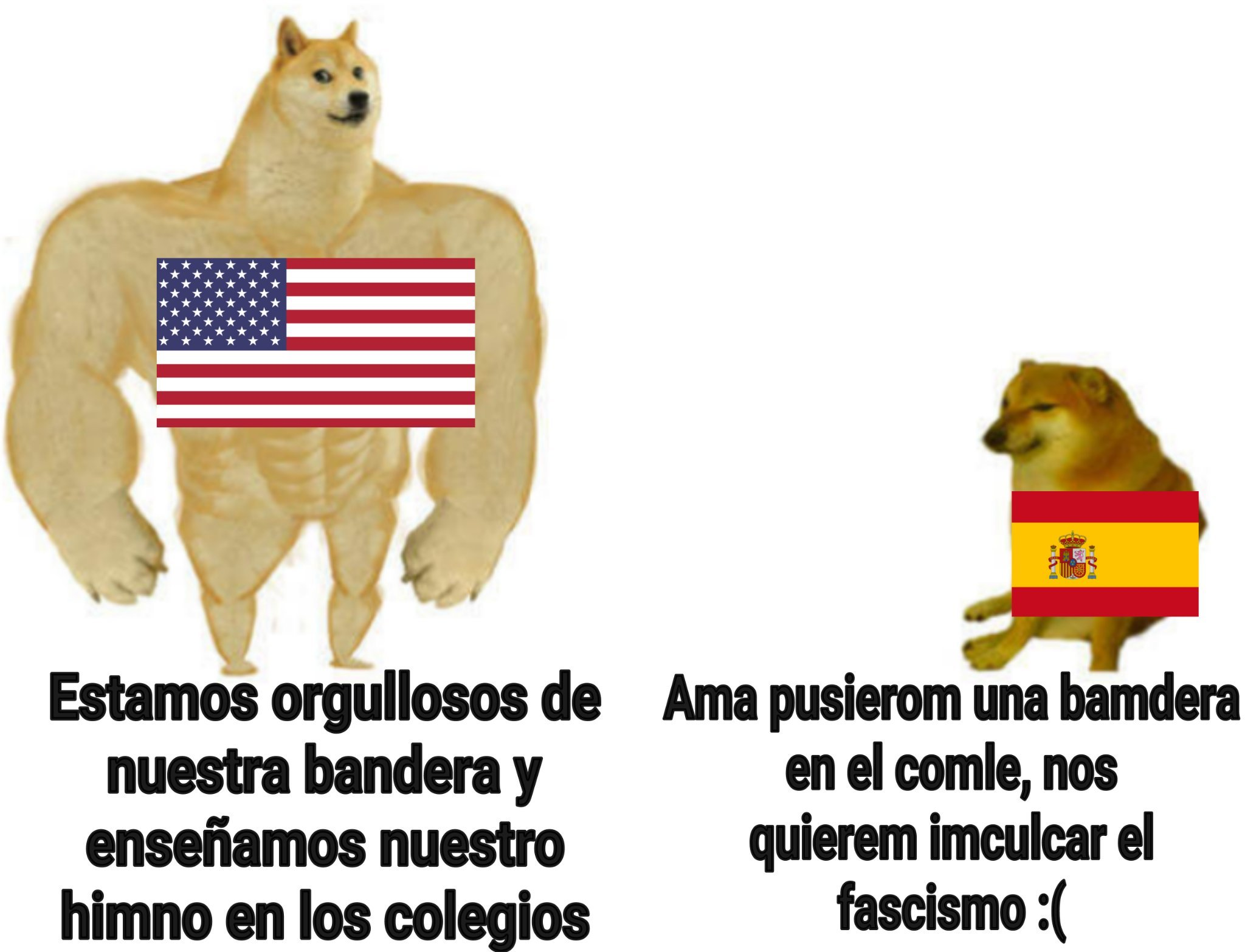 Pones el himno o llevas bandera por la calle y te acuchillan, gracias España :) (Gracias a JaviCrack-432 por ayudarme) - meme