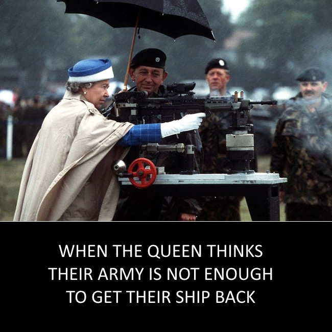 Queen thinks army is not enough - meme