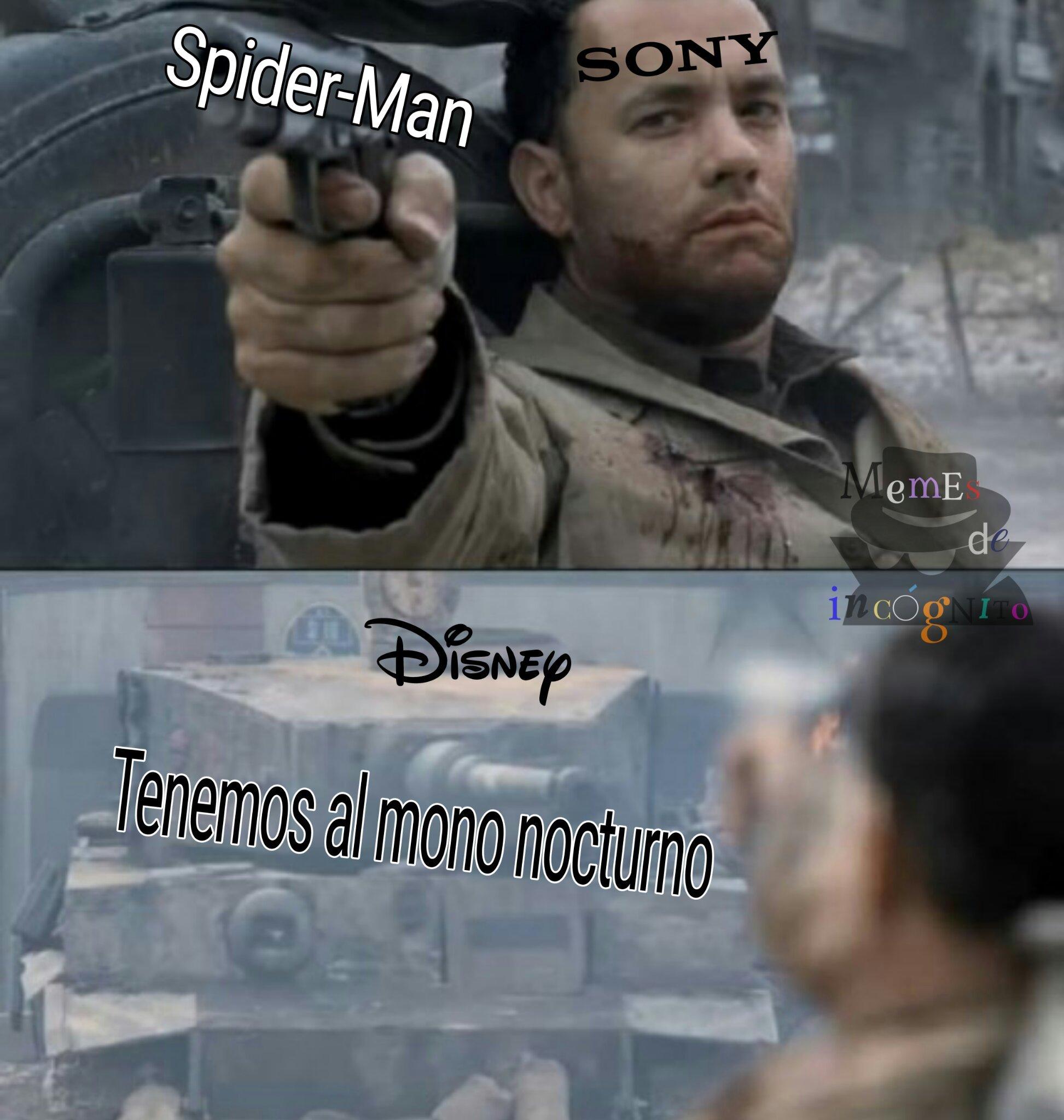 No lo olviden, Disney aun tiene los derechos del mono nocturno - meme