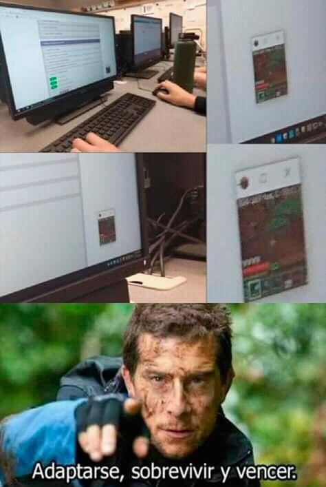 Lo saque del calvo de minecraft - meme