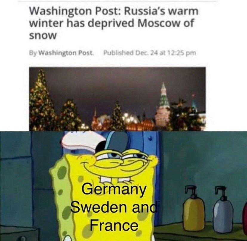 No winter = no problem - meme