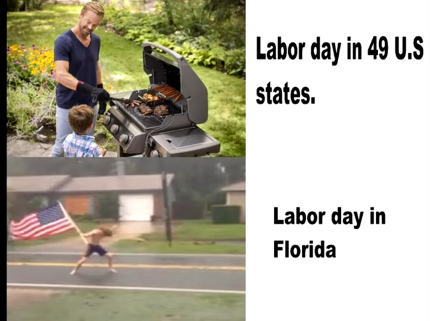 Labor Day in Florida - meme