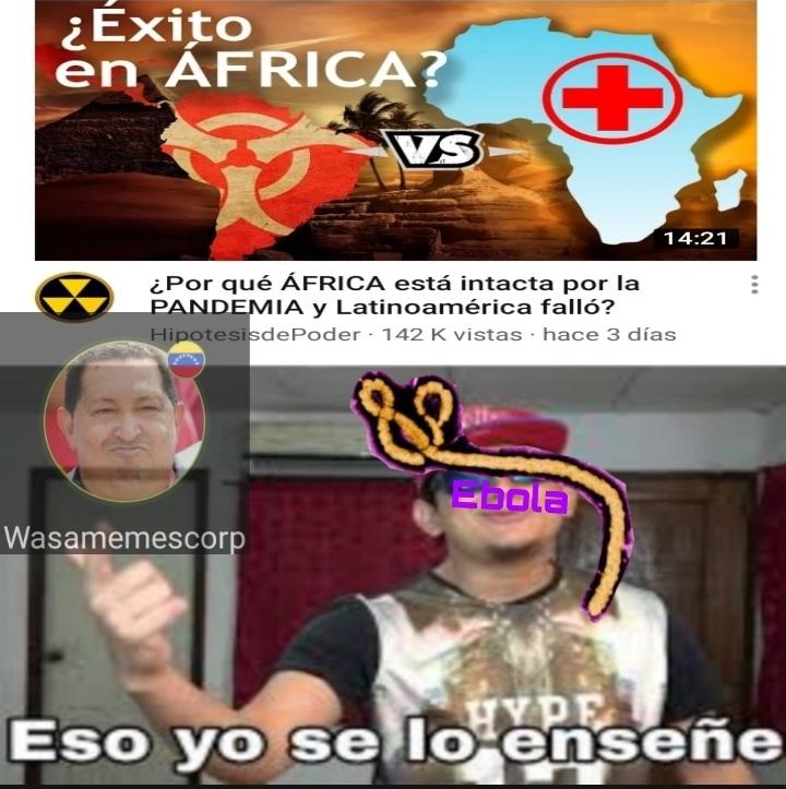 Ebola, Malaria, VIH pobre África - meme