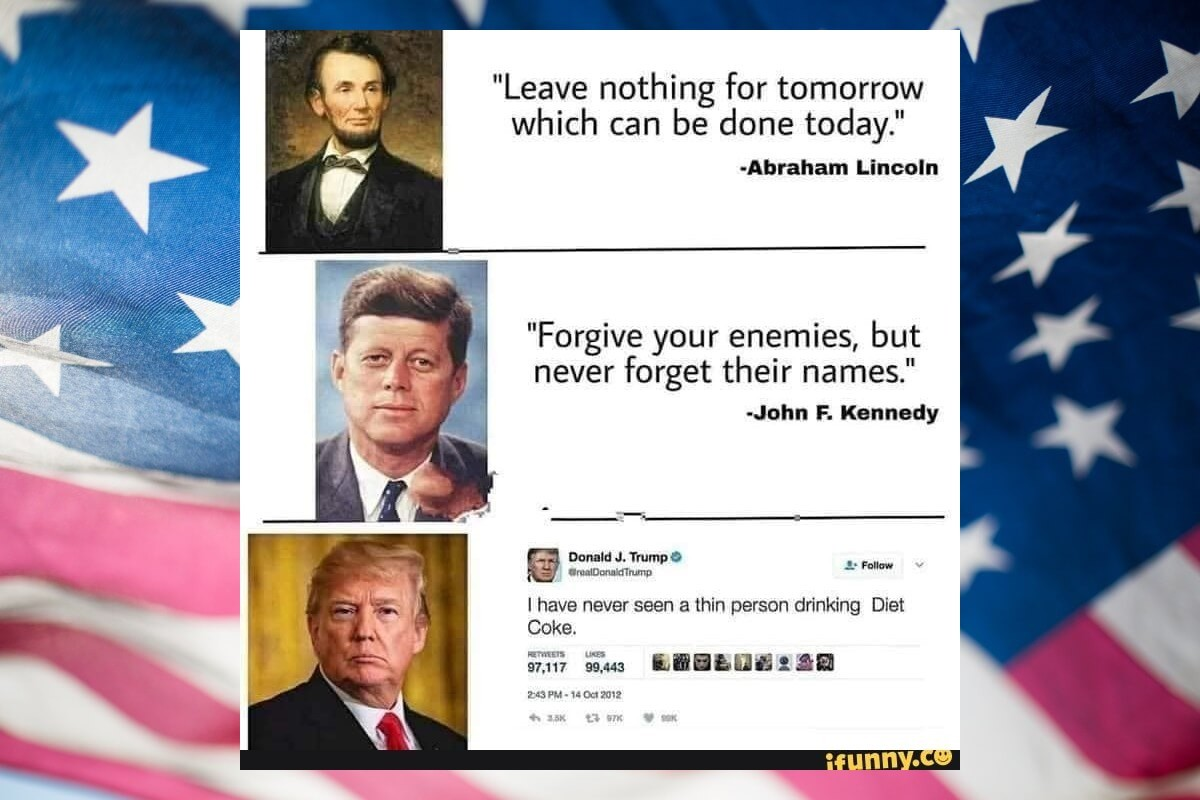 How did we reach from lincoln to orange man? - meme