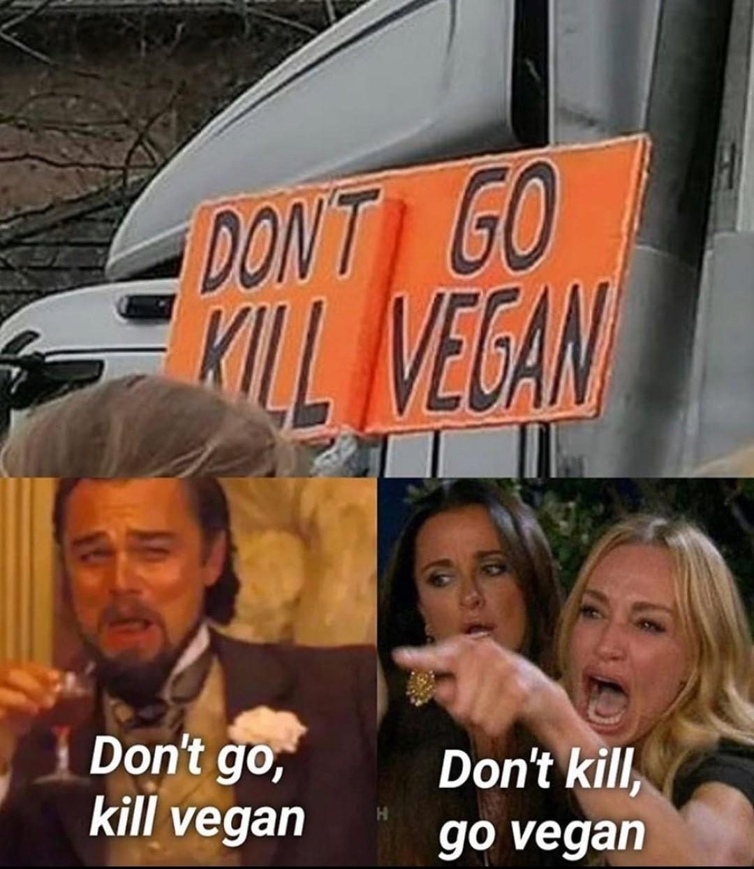 Veganos que chorem - meme