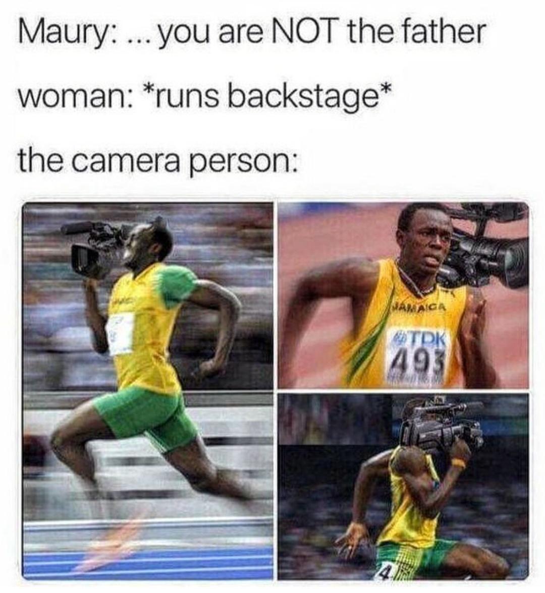 The cameraman is flash himself - meme